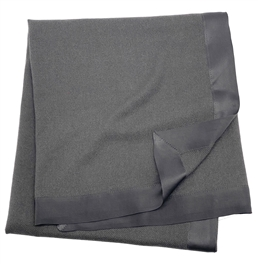 Pure Cashmere Baby Blanket Charcoal 3Ply