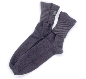 Knit Cashmere Socks Charcoal