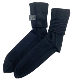Knit Cashmere Socks Black