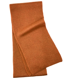 Pure Cashmere Scarf Burnt Orange For Man