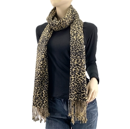 Cheetah Animal Print Pashmina Silk Blend Wrap